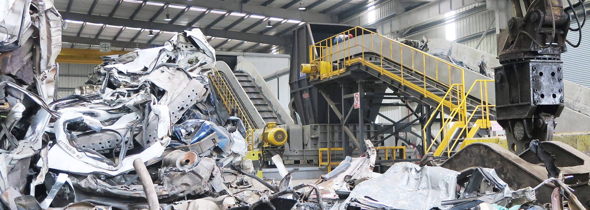 Car Body Shell & Light Metal Scrap Recycling System