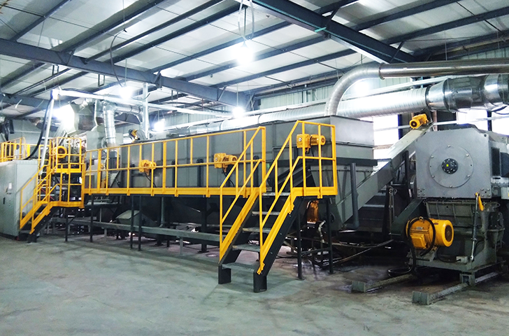 Genox Hazardous Waste Recycling System:  Chemical Packaging (Woven Bags) Washing & Pelletizing